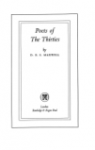 Poets of The Thirties