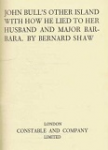 John Bull's Other Island, How He Lied to Her Husband, and Major Barbara
